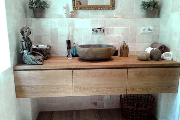 rvs-houten-badkamermeubel-eindhoven - Casajoy