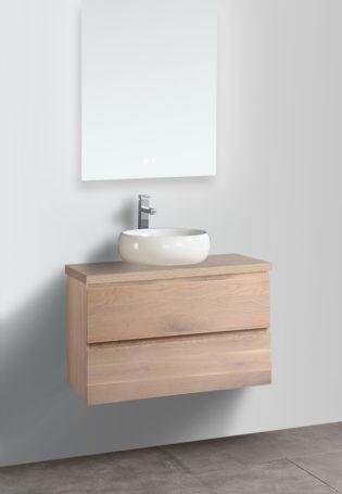 Eiken badkamermeubel 90cm
